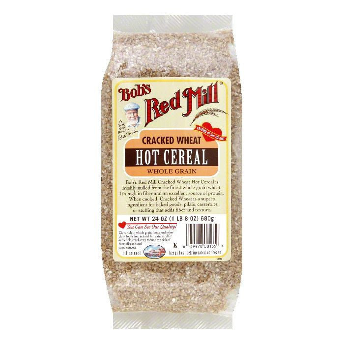 Bobs Red Mill Wheat Cracked, 24 OZ (Pack of 4)