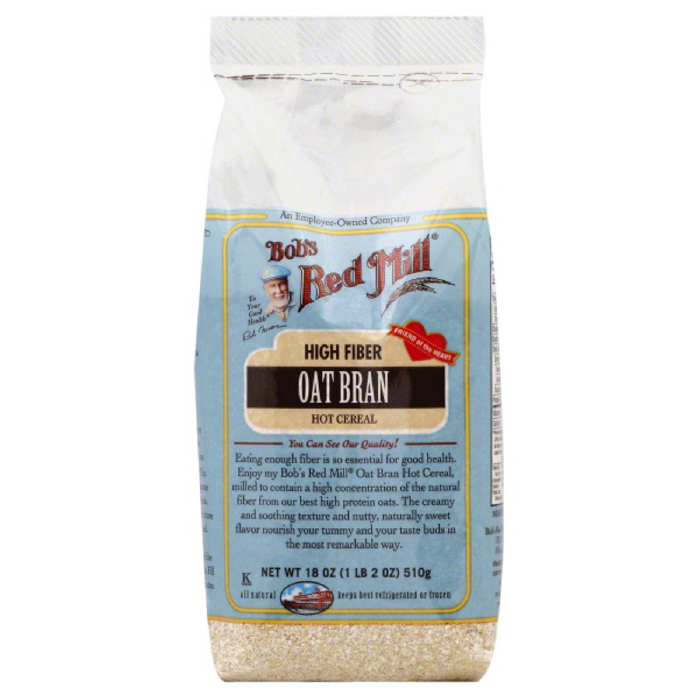 Bobs Red Mill Oat Bran Hot Cereal, 18 Oz (Pack of 4)
