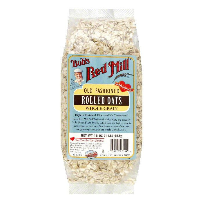 Bobs Red Mill Rolled Oats Regular, 16 OZ (Pack of 4)