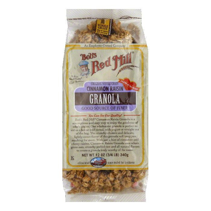 Bobs Red Mill Cinnamon Raisin Granola, 12 Oz (Pack of 4)