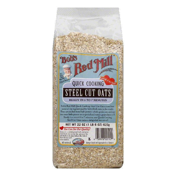 Bobs Red Mill Steel Cut Oats Quick Cook, 22 OZ (Pack of 4)