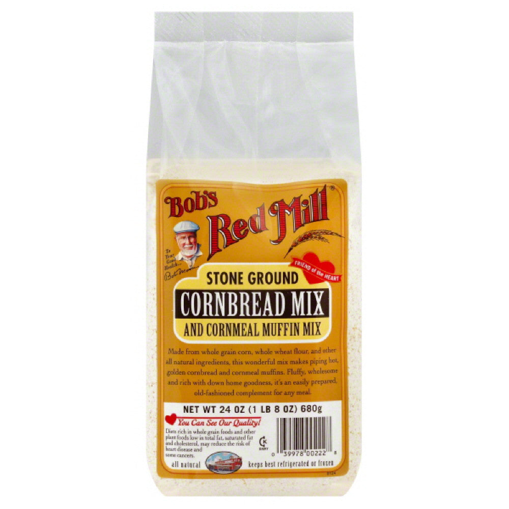 Bobs Red Mill Stone Ground Cornbread Mix, 24 Oz (Pack of 4)