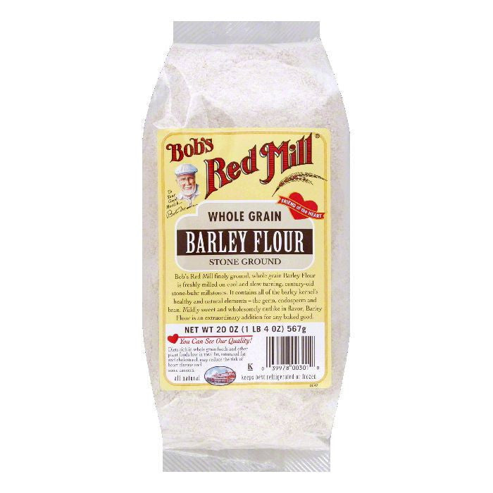 Bobs Red Mill Flour Barley Flour, 20 OZ (Pack of 4)