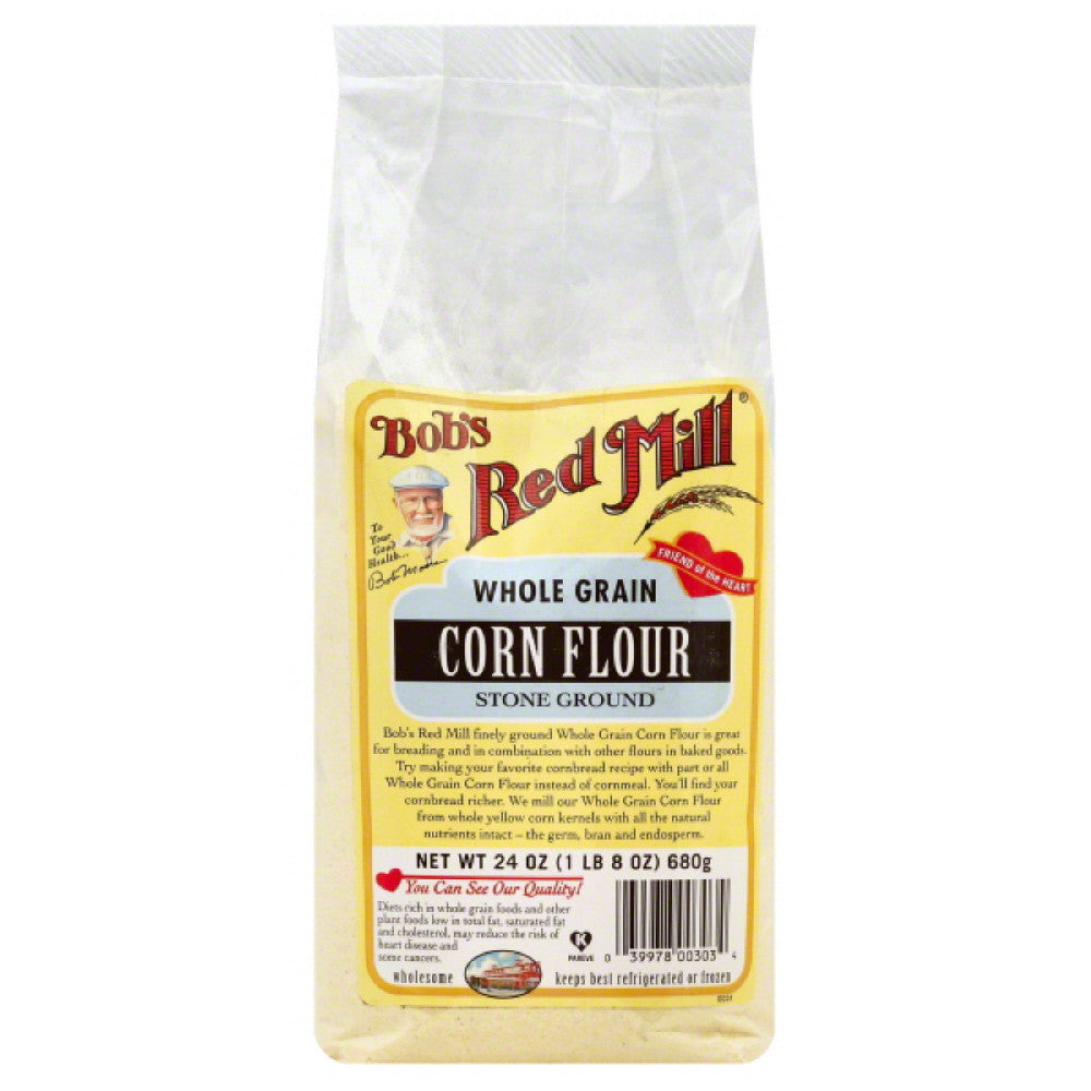 Bobs Red Mill Stone Ground Corn Flour, 24 Oz (Pack of 4)