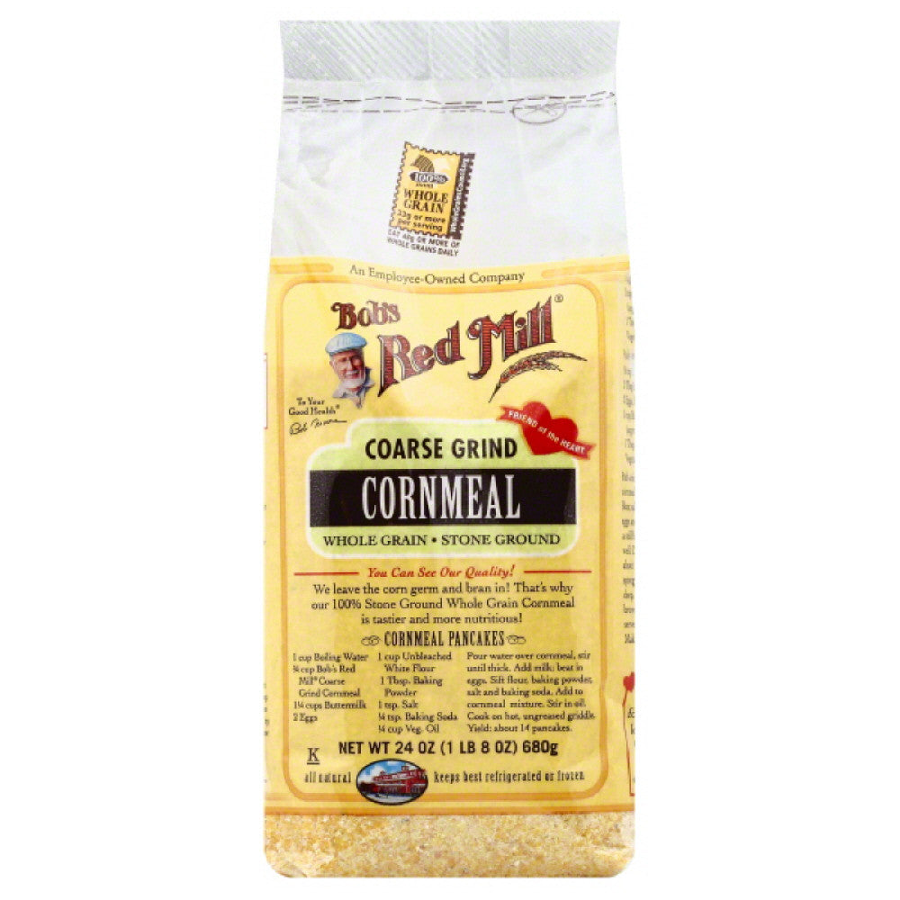 Bobs Red Mill Coarse Grind Cornmeal, 24 Oz (Pack of 4)