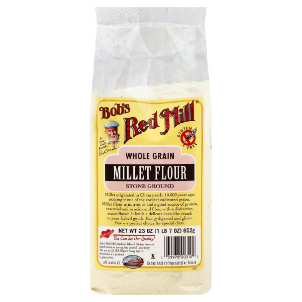 Bobs Red Mill Stone Ground Millet Flour, 23 Oz (Pack of 4)