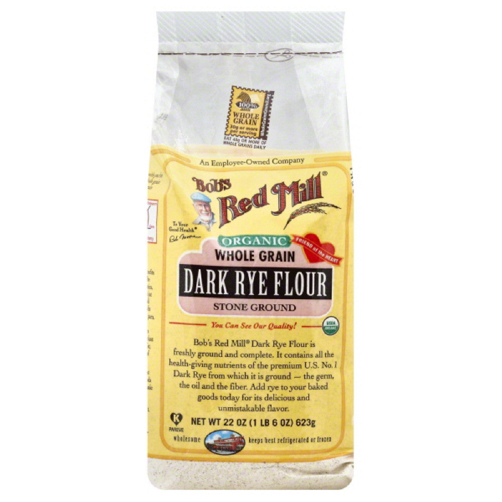 Bobs Red Mill Dark Rye Flour, 22 Oz (Pack of 4)