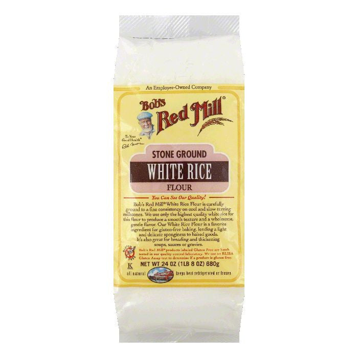 Bobs Red Mill Flour White Rice, 24 OZ (Pack of 4)