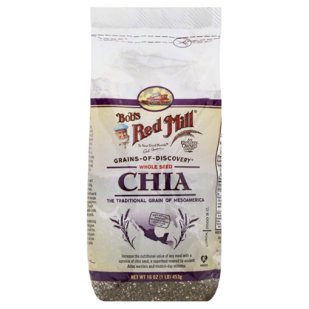 Bobs Red Mill Chia Whole Seed, 16 Oz (Pack of 4)