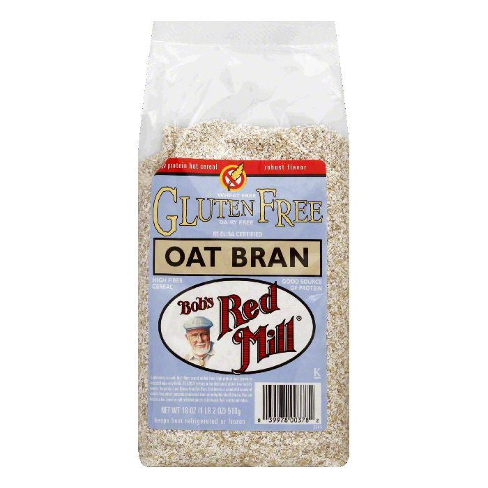 Bobs Red Mill Oat Bran, 18 Oz (Pack of 4)