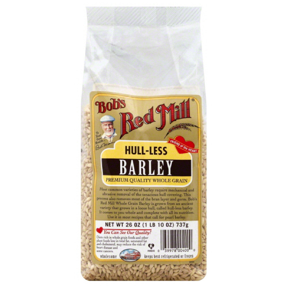 Bobs Red Mill Hull-less Barley, 26 Oz (Pack of 4)