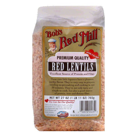 Bobs Red Mill Red Lentils Beans, 27 OZ (Pack of 4)