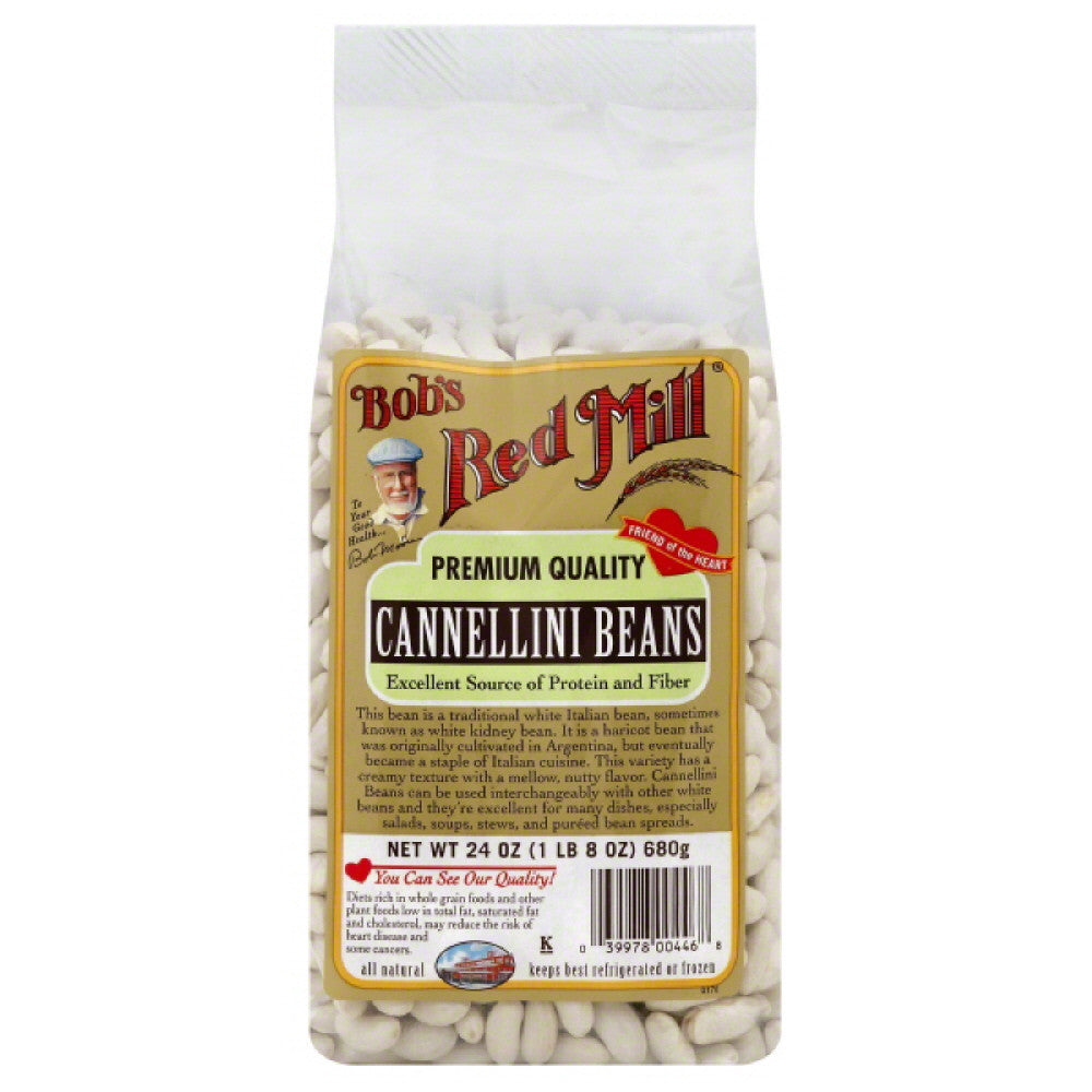Bobs Red Mill Premium Quality Cannellini Beans, 24 Oz (Pack of 4)