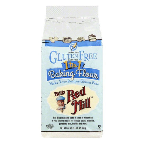 Bobs Red Mill 1 to 1 Baking Flour, 22 OZ (Pack of 4)