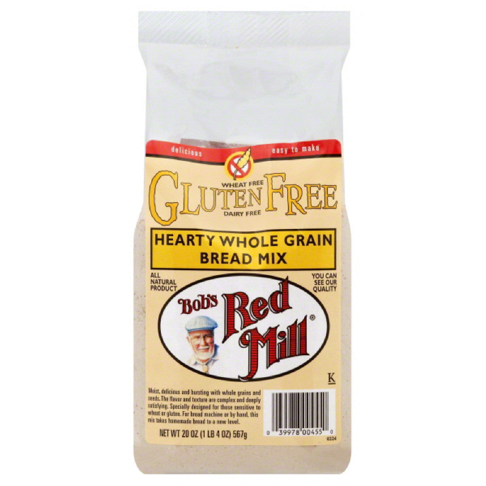 Bobs Red Mill Hearty Whole Grain Bread Mix, 20 Oz (Pack of 4)
