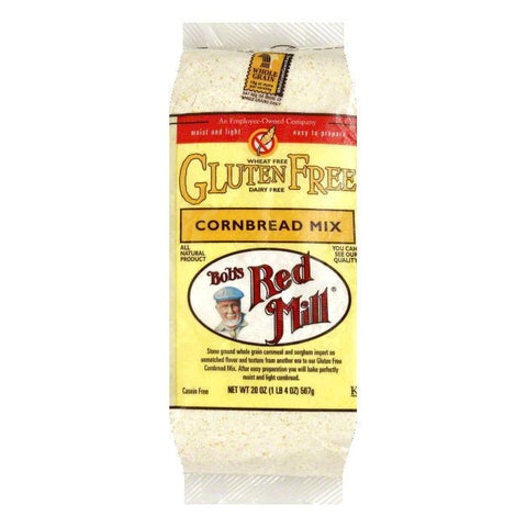 Bobs Red Mill Cornbread Mix Gluten Free, 20 OZ (Pack of 4)