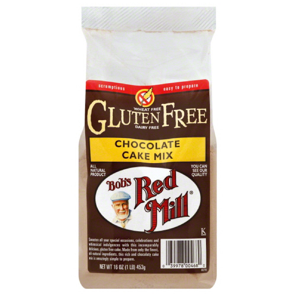 Bobs Red Mill Chocolate Cake Mix, 16 Oz (Pack of 4)