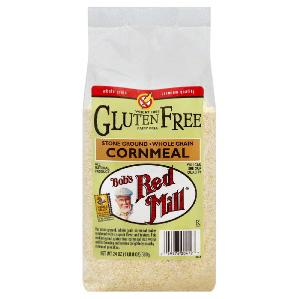Bobs Red Mill Stone Ground Cornmeal, 24 Oz (Pack of 4)