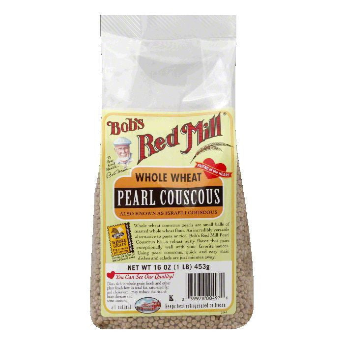 Bobs Red Mill Whole Wheat Pearl Couscous, 16 Oz (Pack of 4)
