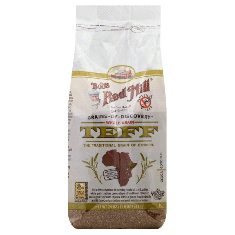 Bobs Red Mill Teff Whole Grain, 24 Oz (Pack of 4)