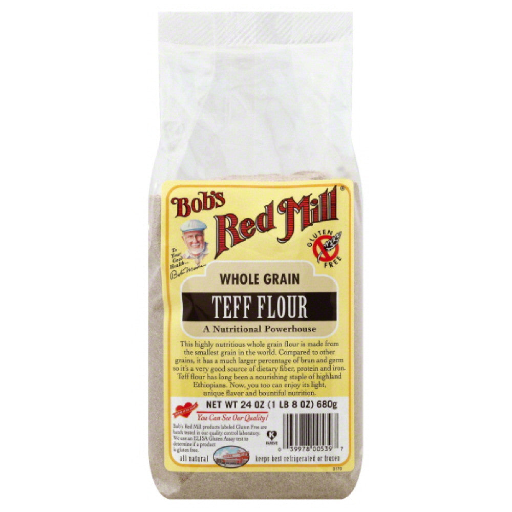 Bobs Red Mill Teff Flour Whole Grain, 24 Oz (Pack of 4)