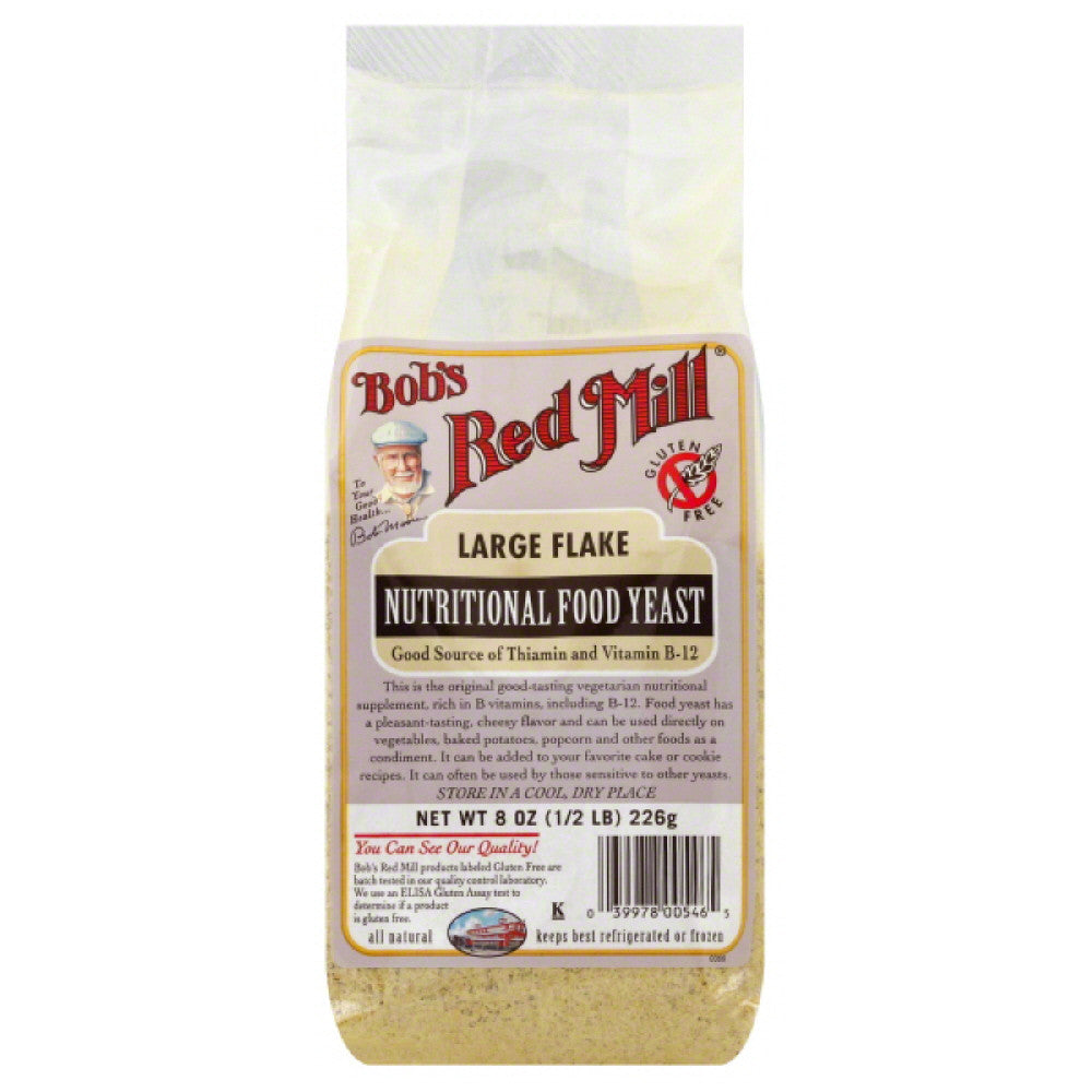 Bobs Red Mill Large Flake Nutritional Food Yeast, 8 Oz (Pack of 4)
