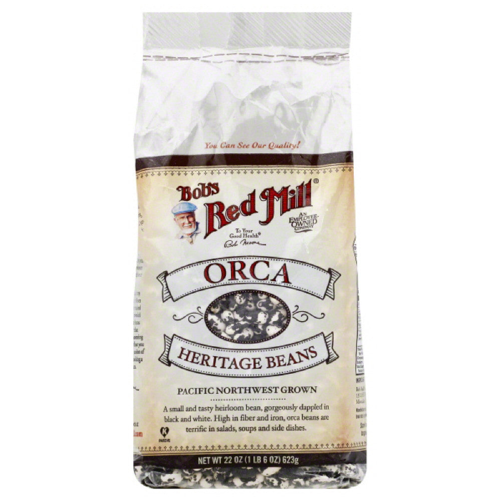 Bobs Red Mill Orca Heritage Beans, 22 Oz (Pack of 4)