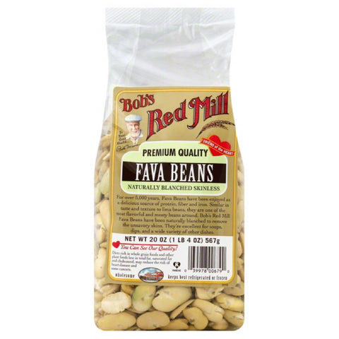 Bobs Red Mill Naturally Blanched Skinless Fava Bean, 20 Oz (Pack of 4)