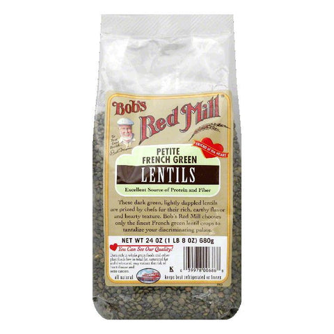 Bobs Red Mill Petite French Green Lentils, 24 Oz (Pack of 4)