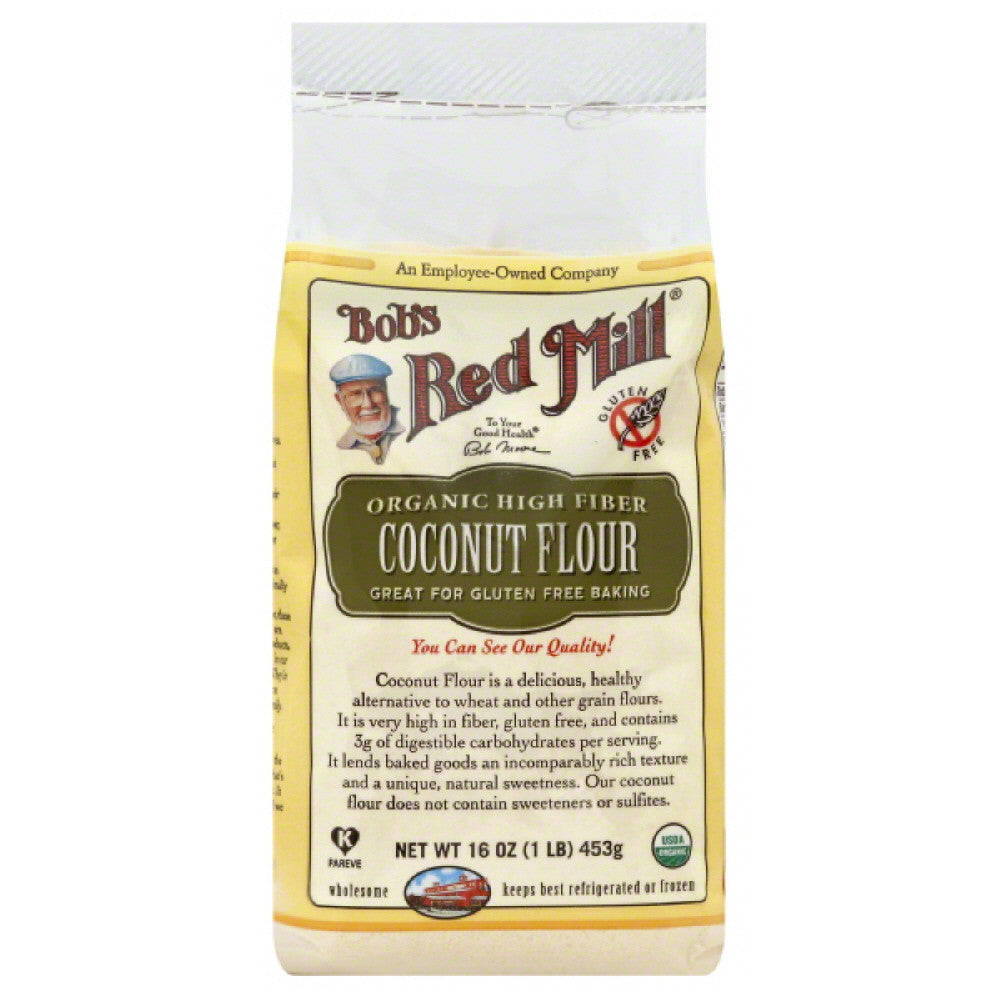 Bobs Red Mill High Fiber Coconut Flour, 16 Oz (Pack of 4)