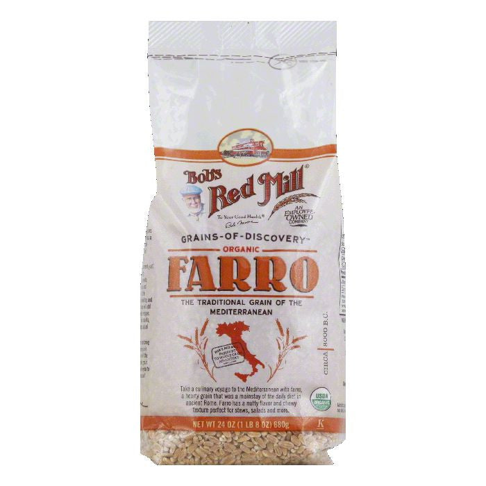 Bobs Red Mill Organic Farro, 24 Oz (Pack of 4)