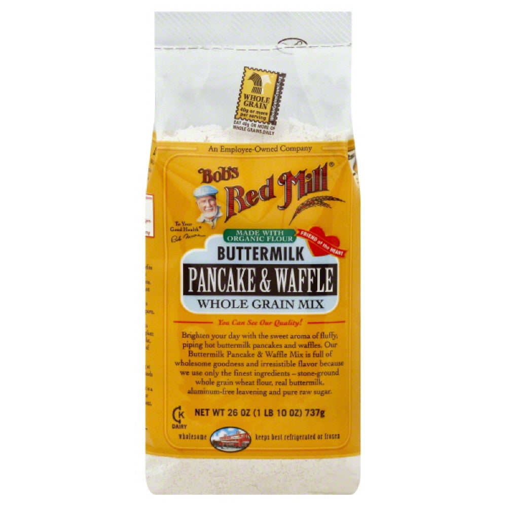 Bobs Red Mill Buttermilk Pancake & Waffle Mix, 26 Oz (Pack of 4)