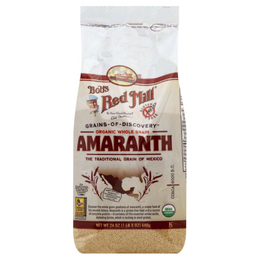 Bobs Red Mill Organic Whole Grain Amaranth, 24 Oz (Pack of 4)