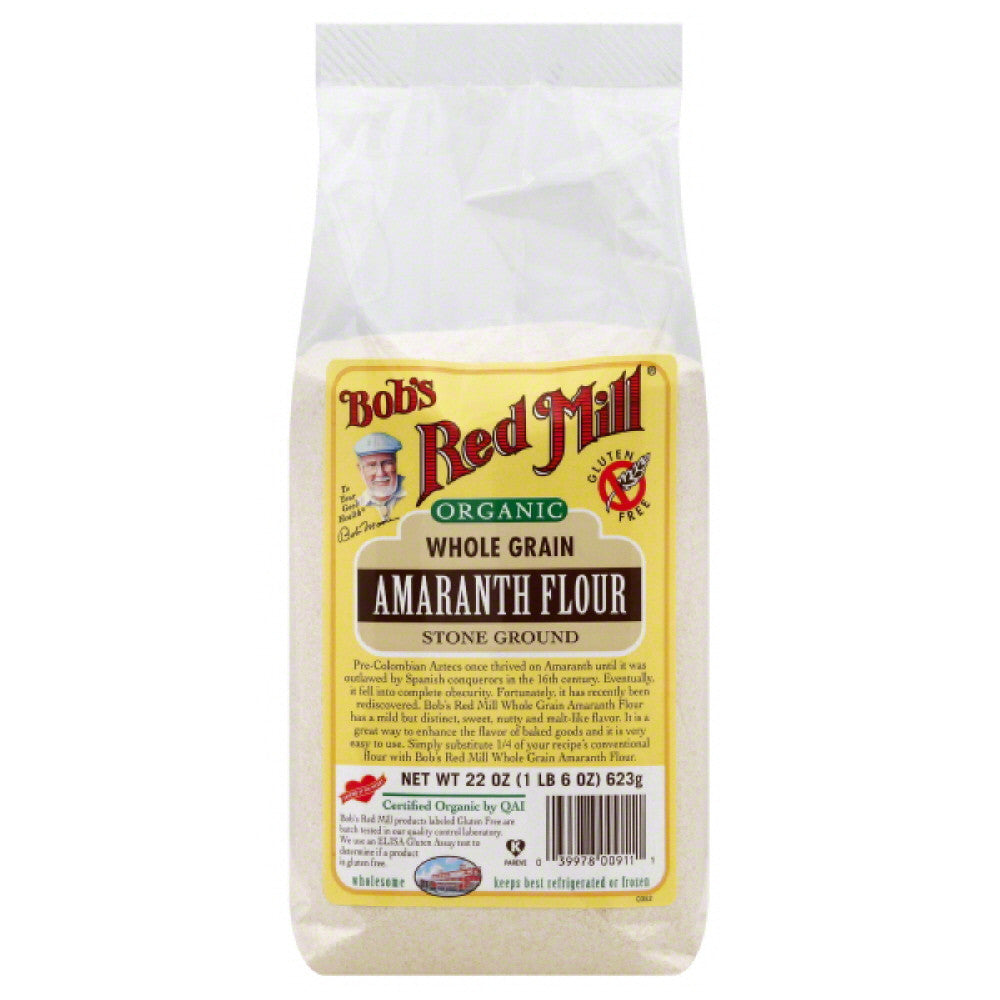 Bobs Red Mill Stone Ground Whole Grain Amaranth Flour, 22 Oz (Pack of 4)
