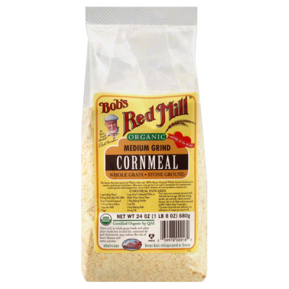 Bobs Red Mill Medium Grind Cornmeal, 24 Oz (Pack of 4)