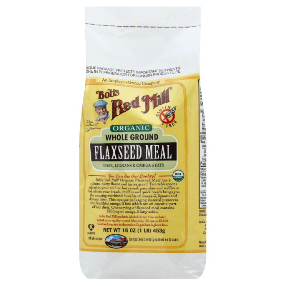 Bobs Red Mill Flaxseed Meal Whole Ground, 16 Oz (Pack of 4)