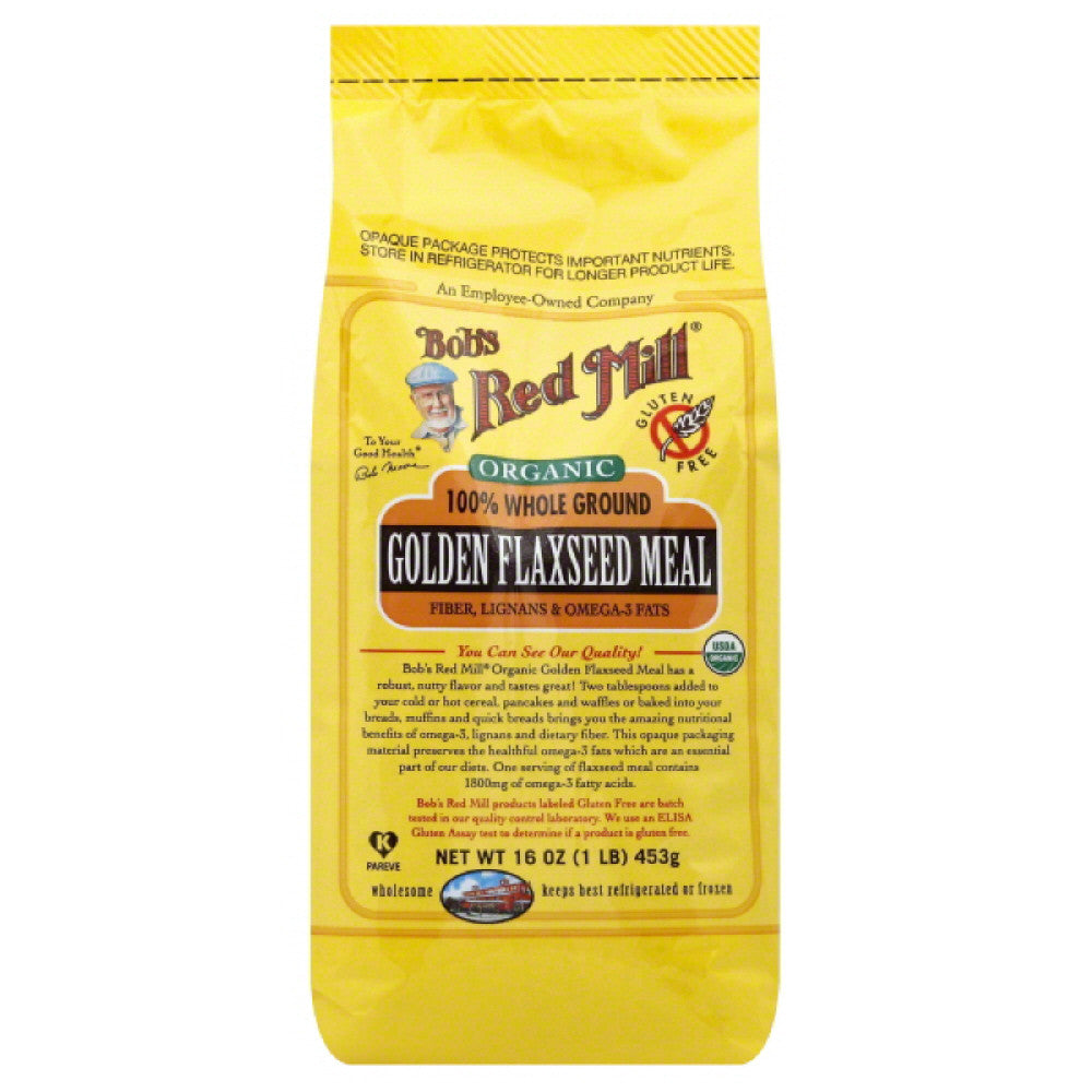 Bobs Red Mill 100% Whole Ground Golden Flaxseed Meal, 16 Oz (Pack of 4)