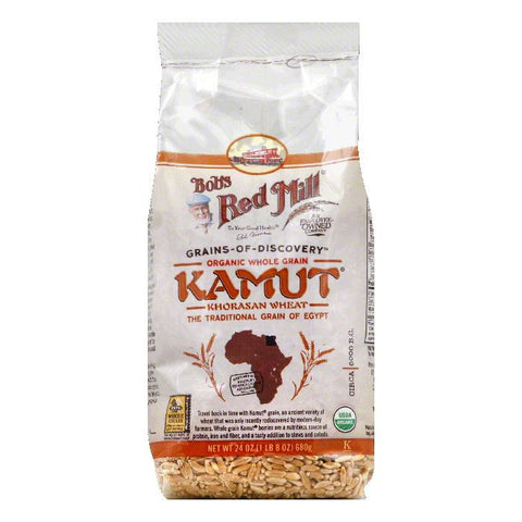 Bobs Red Mill Organic Whole Grain Kamut, 24 Oz (Pack of 4)