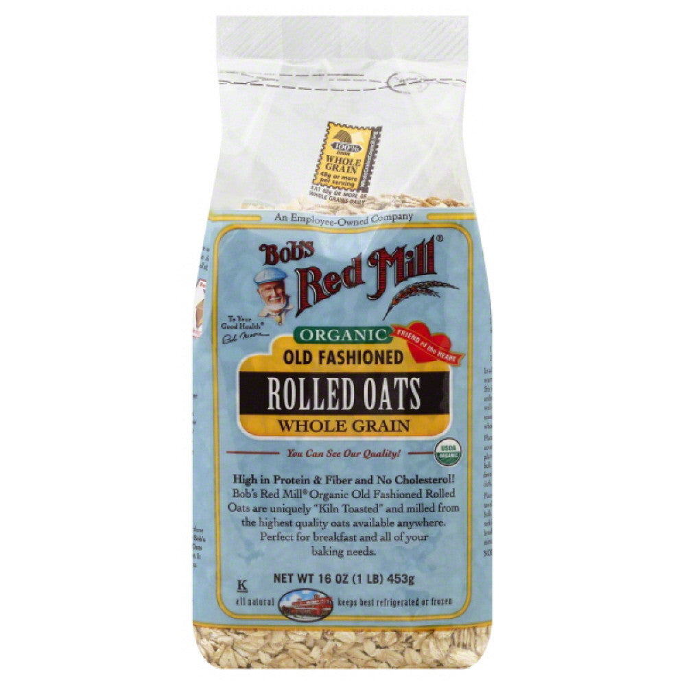 Bobs Red Mill Old Fashioned Whole Grain Rolled Oats, 16 Oz (Pack of 4)