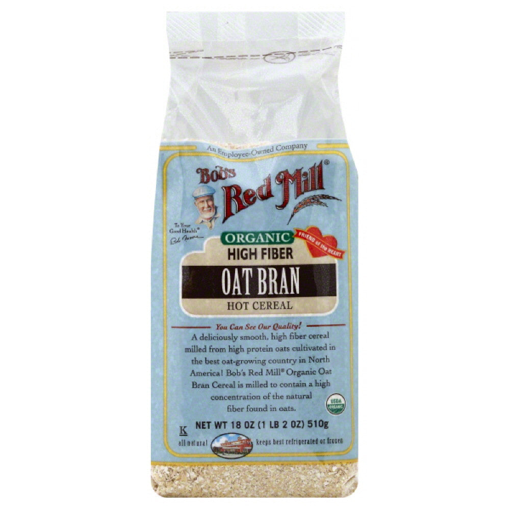 Bobs Red Mill Organic Oat Bran, 18 Oz (Pack of 4)