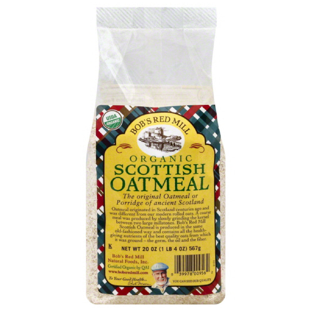 Bobs Red Mill Scottish Organic Oatmeal, 20 Oz (Pack of 4)