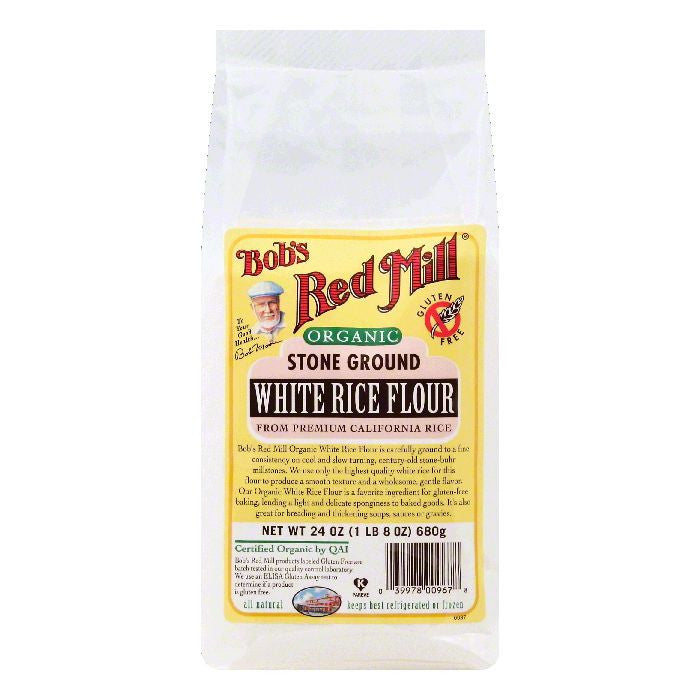 Bobs Red Mill Stone Ground White Rice Flour, 24 OZ (Pack of 4)