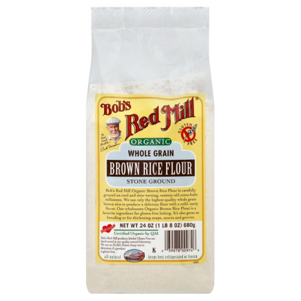 Bobs Red Mill Brown Rice  Flour, 24 Oz (Pack of 4)