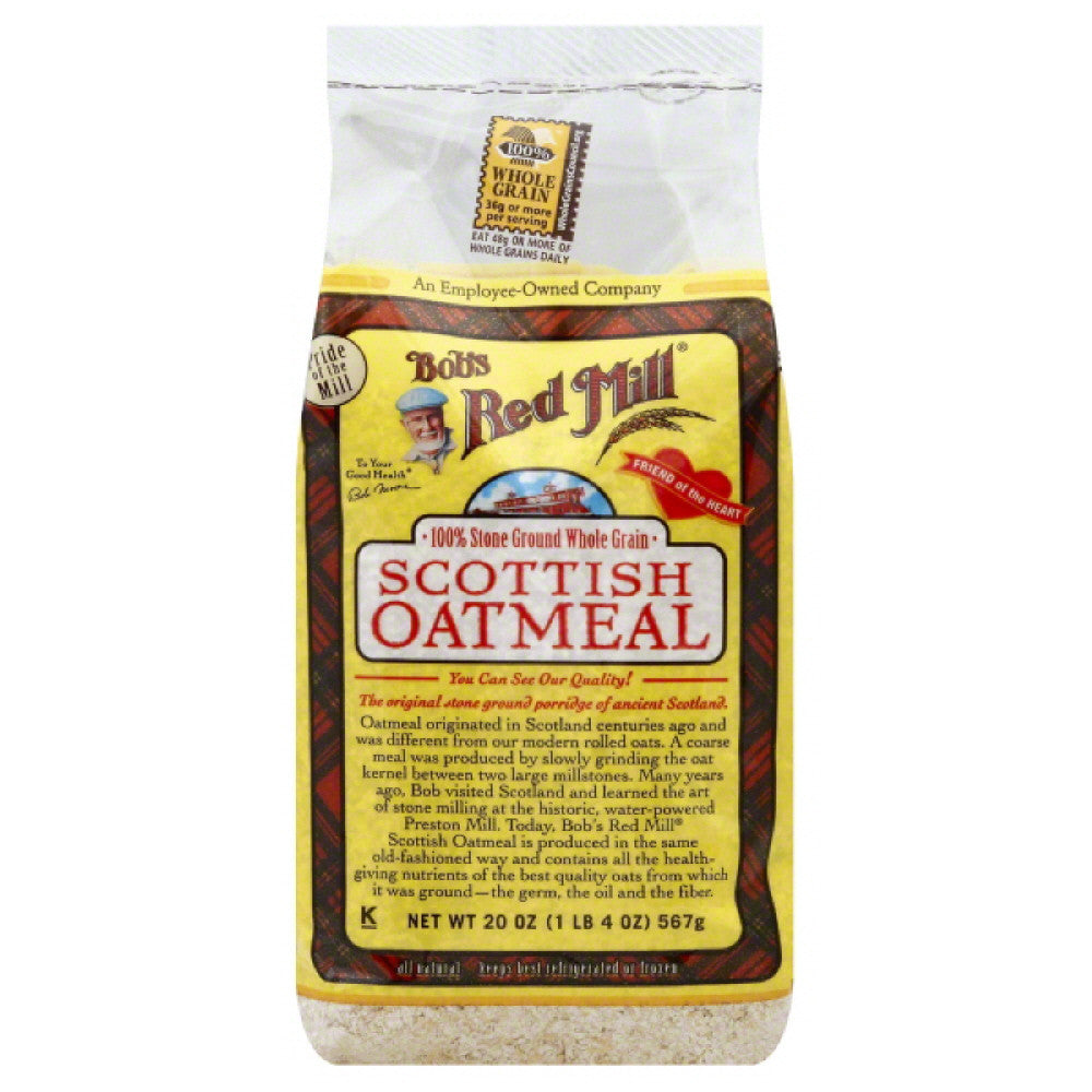 Bobs Red Mill Scottish Oatmeal, 20 Oz (Pack of 4)