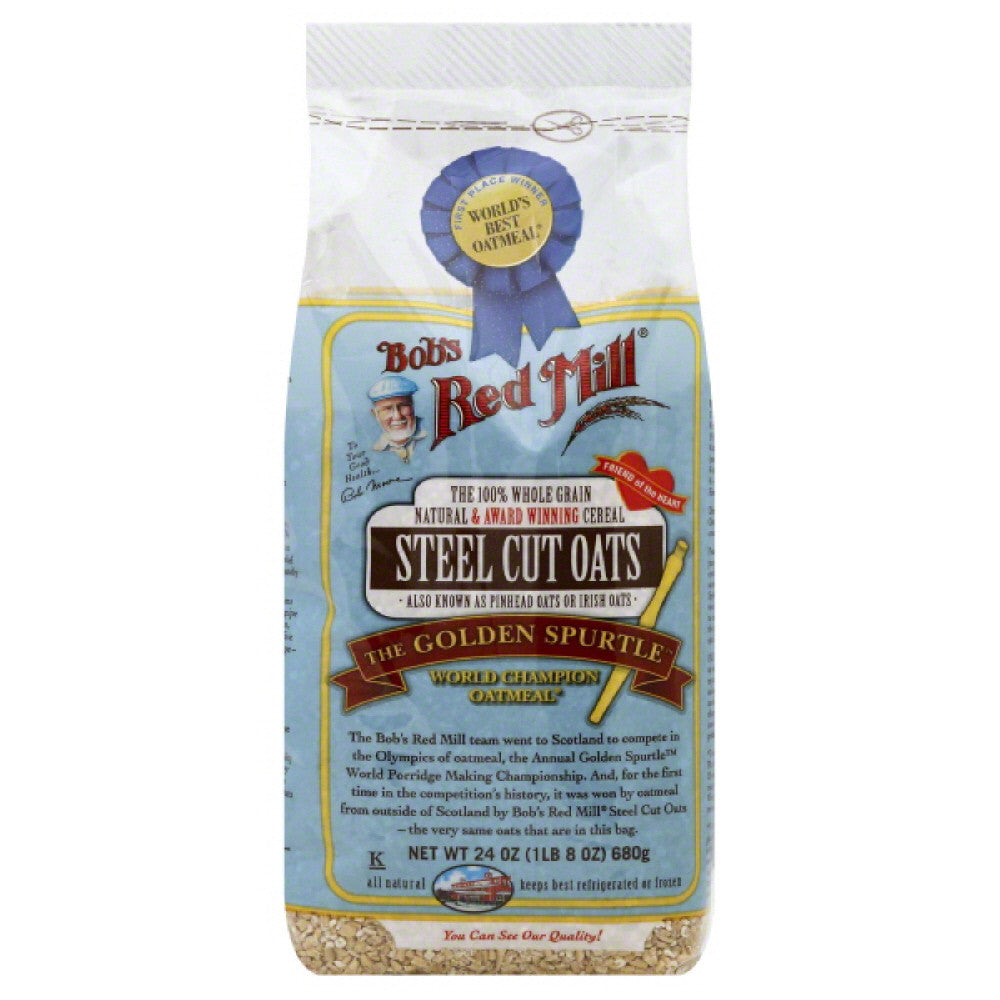 Bobs Red Mill Steel Cut Oats, 24 Oz (Pack of 4)