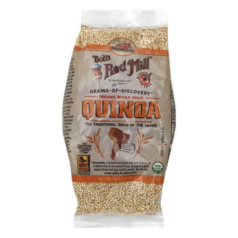 Bobs Red Mill Organic Whole Grain Quinoa, 16 Oz (Pack of 4)