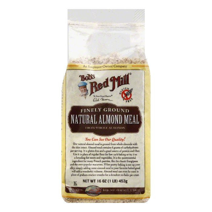 Bobs Red Mill Finely Ground Natural Almond Meal, 16 OZ (Pack of 4)