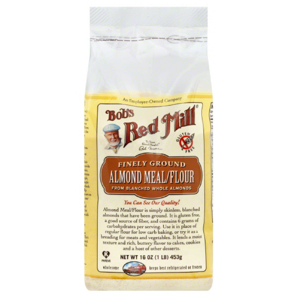 Bobs Red Mill Finely Ground Almond Meal/Flour, 16 Oz (Pack of 4)