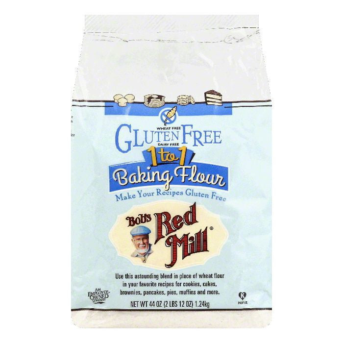 Bobs Red Mill 1 to 1 Baking Flour, 44 OZ (Pack of 4)