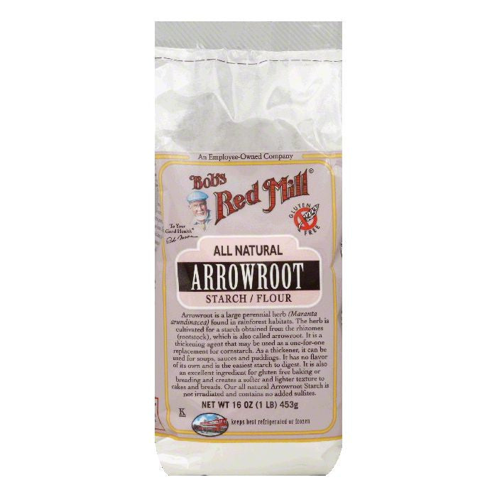Bobs Red Mill Arrowroot Starch/Flour, 16 Oz (Pack of 4)